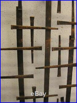 Mid Century Modern Brutalist Wall Sconces Black Metal Candle Holders