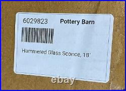 NEW Pottery Barn Hammered Glass Hurricane Wall Sconce Hanging Candle Holder