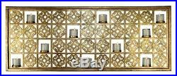 NEW STUNNING TUSCAN HAND MADE Gold 10 Votive Candle Holder WALL ACCENT
