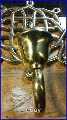 PAIR SOLID BRASS Wall Mount Candle STICK Holders SCONCE Candle Holders
