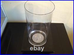 POTTERY BARN MODERN WALL Glass CANDLE HOLDER hurricane LEDGE vase New