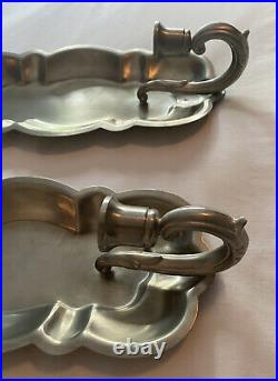 Pair (2)Vintage Colonial Pewter by Boardman Wall Mount Candle Sconces