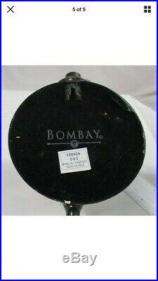 Pair Bombay Company Bronze/Steel 15 Taper Candle Holder Wall Sconce