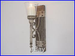 Pair Of Wall Sconce Candle Holders Antique Vintage Style Indoor Garden