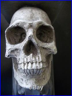 Pair Skull Wall Sconces/Candle Holder, NEW! VERY COOL