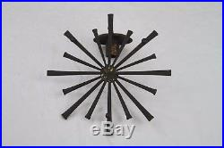 Pair of BRUTALIST Metal NAIL ART WALL SCONCE Candle Holder