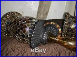 Partylite Global Fusion 2 piece SCONCE SET. Inc. PEGLIGHT AND SCONCE WALL PIECE