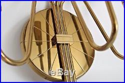 Parzinger Dorlyn Vtg Mid Century Brass Candelabra Candle Holder Wall Sconce MCM
