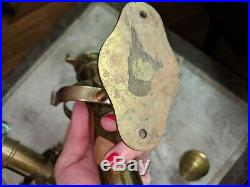 Pr Vtg Solid Brass Nautical Ship Candle Holder Wall Sconce With Gimbel Mounting
