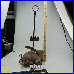 RARE Rabbit Bunny Hare Wall Sconces Candleholder Candle Holder Cast Iron