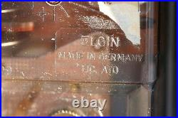 Rare Vintage ELGIN Metal Wall Clock with2 Candle Holder By ELGIN MADE IN GERMANY