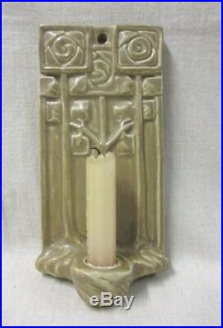 Rookwood Hanging Wall Arts And Crafts Candle Holder 1919 With Mackintosh Rose