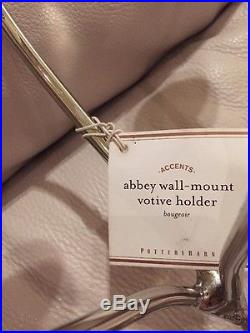 S2 Pottery Barn Polished Nickel Finish Abbey Wall Mount Candle Holders Base Only