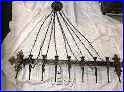 Sexton Gothic Medieval Wall Hanging Candle Holder Chandelier Halloween Large1965