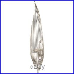 Silver Chrome Plated Strand Wall Candle Holder Sconce