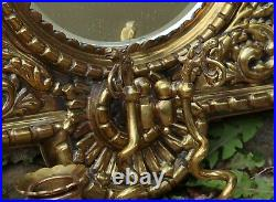 Superb Pair Of Victorian Mirrowed Brass Candle Wall Sconces Holders