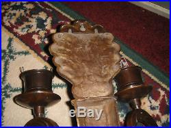 Superb Victorian Art Deco Style Wall Sconce Candle Holder-#2-Metal Candle Holder