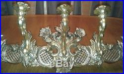 Syroco wall candle holder 7 candles 4 feet wide victorian over the door gothic
