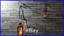 UNIQUE Metal Art Gift Metal Climbing Man Lantern Candle Tea Light Holder Wall