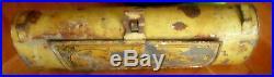 Unique Antique Primitive Wall Mounted Litho Tin Candle Holder Case
