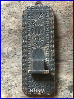 Unusual Carved Wood Taper Holder Wall Mounted Candle Holder Antique Film Prop