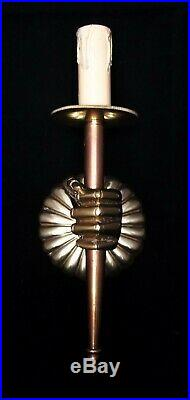 VINTAGE NEOCLASSICAL FRENCH ANDRE ARBUS HAND WALL SCONCE LIGHT 1950's