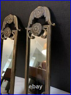 VTF PAIR solid Brass Wall Candle Holder Sconces 23 Heavy Classic