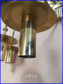 VTG Tommi Parzinger Dorlyn Brass Wall Candelabra 5 Arm Sconce MCM