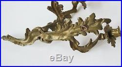 VTG sturdy Cast Brass vintage 3 arm candle wall sconces Pair 15 x 14 x 10