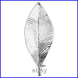 Very Large Silver Leaf Candle Sconce Statement Wall Hanging Candle Holder