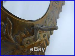 VictorianMirrored BRASS Wall Mounted PINK NAILSEA Type Candle/Fairy Lamp Holder