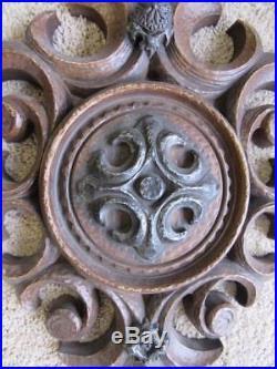 Vintage 3 Pc Burwood Medieval Candle Holders Wall Sconces Art Decor
