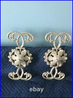 Vintage Cast Iron Wall Sconce/Candle Holder Very Ornate Indoors/Outdoors