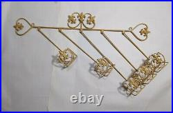 Vintage Fleur de Lis Wall Sconce Wrought Iron Planter Candle Holder Shabby Chic