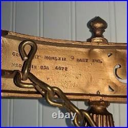 Vintage Homco Dart Gold Gothic Wall Candelabra Candle Holder Sconce Regency