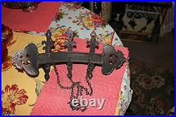 Vintage Homco Gothic Medieval Wall Hanging Candlestick Holder Holds 3 Candles
