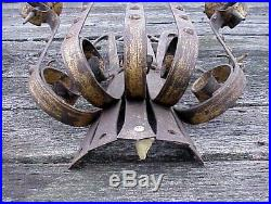 Vintage Iron Wall Candle Sconce Candleabra Gothic 5 Arms Spain 15 lbs 24 T