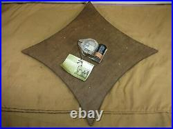Vintage Mid Century Danish Modern Style Wall Clock with Candle Holders Eames Era