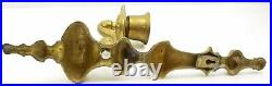 Vintage Solid Brass Wall Sconces Candle Holders Set of 2 Victorian 15