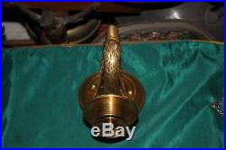 Vintage Style Hollywood Regency Brass Swan Duck Candle Holder Wall Sconce