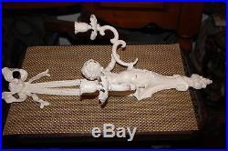 Vintage Victorian Style Angel Cherub Double Arm Wall Sconce Candle Holder-#1