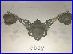 Vintage Wall Mounted Swing Candle Holder Solid Brass, Piano Candlestick