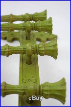 Vtg 1966 SYROCO Green 5 Candle Holder Candelabra Retro Wall Sconce Sculptural L