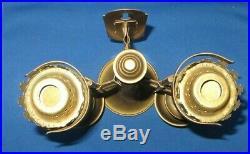 Vtg. Brass Spring Loaded Wall Sconces Candle Holders L@@K