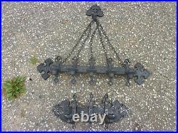 Vtg Gothic Castle Cast Metal Wall Sconces Candle Stick Holder Dungeon Antique