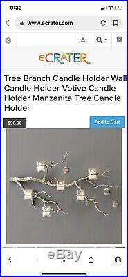 West Elm Spiral Iron Wall Votive 5 Votive Candle Holder Modern Geometric